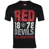 футболка Manchester United Red Devils Graphic T-Shirt - Black - Mens